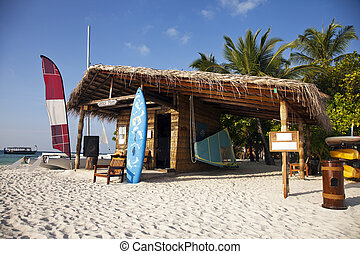 Beach hut - Hut on the beach for visitors to rent water...