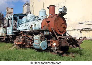 Rusting train engine, Havana - A rusting steam train engine...