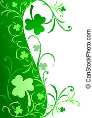 Fancy Shamrock Border - Fancy border with Shamrocks and...