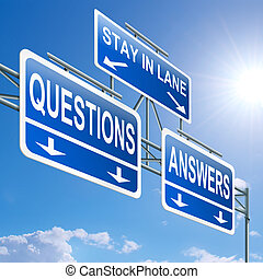Questions and answers concept. - Illustration depicting a...