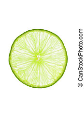 Single lime slice - Close view of a single lime slice...