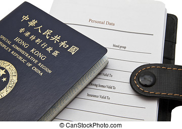 Hong Kong Passport isolated on white background