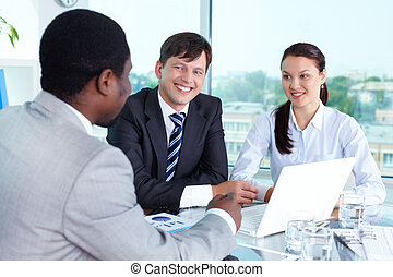 People at work - Portrait of happy business team having...