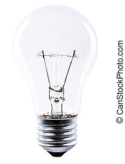 light bulb isolated bevor white background