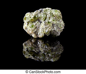 Peridote or olivine crystals - Rough peridote or chrysolite,...