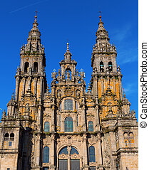 Cathedral of Santiago - Facade of Cathedral of Santiago de...