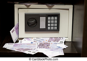 steel electronic safe with money - Little steel electronic...