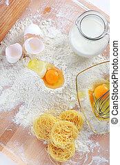 Baking ingredients for pasta