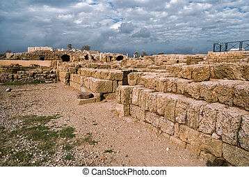 Ruins of roman period in caesarea