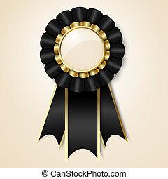 Black prize ribbon