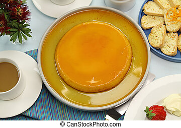 Creme Caramel - Creme caramel ready to be served with coffee...