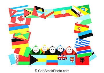 International relations metaphor - Conceptual image of...