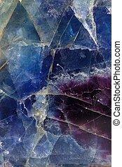 Fluorite - Pattern of blue-violet fluorite mineral