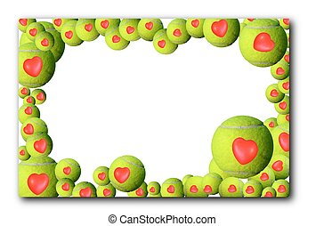 Lot of tennis balls  frame