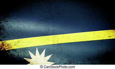 Nauru Flag Waving, grunge look