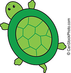 Turtle - An illustration of a green turtle.