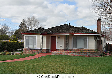 Home - Suburban home on a cloudy day, Livermore, California
