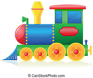 children locomotive vector illustration isolated on white...