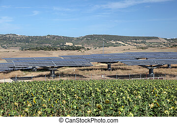 Solar power station in southern Spain
