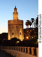 The Torre del Oro English: quot;Gold Towerquot; in Seville,...