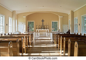 Old Church - A colonial Christian church in historic Allaire...