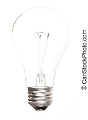 Lit up lightbulb - A Lit up lightbulb against a background