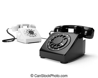 3? illustration: Two phones the black and white are...