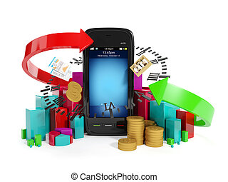 3 illustration: Mobile technology business Graphics business...
