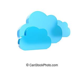 3d illustration: Blue Cloud