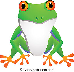 funny frog cartoon - illustration of funny frog cartoon