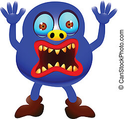 funny monster cartoon