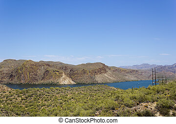 Canyon Lake, Arizona - Canyon Lake along Apache Trail in...