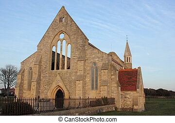 Old Garrison church,portsmouth - The old ruins of the...