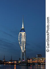 Spinnaker Tower - The Spinnaker Tower of Portsmouth in the...