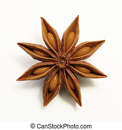 Perfect anise star - Perfect anis star on white background,