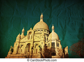 Montmartre - The Sacre-Coeur church in Montmartre,paris