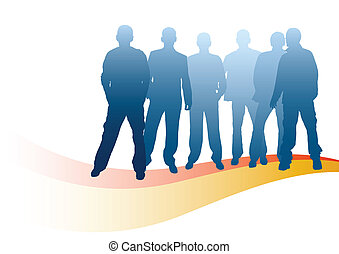 team - isolated men for your design and art-work