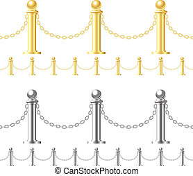 Seamless fence isolated on white