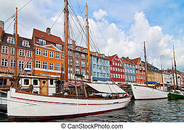 Copenhagen Denmark Walk through the old town
