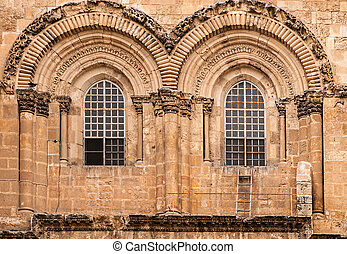 Main entrance to the Church of the Holy Sepulchre in...