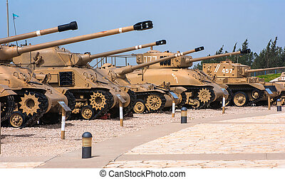 Memorial  and the Armored Corps Museum in Latrun, Israel