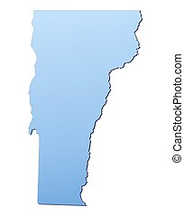 VermontUSA map filled with light blue gradient High...