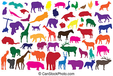 animals - vector animal silhouettes