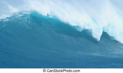 Ocean Wave - Large Ocean Wave in Hawaii