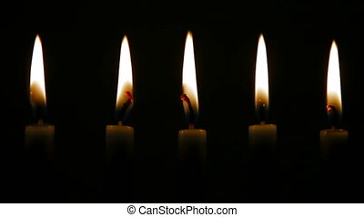 DOLLY: Burning Candles - Menorah Burning Candles, Tracking...