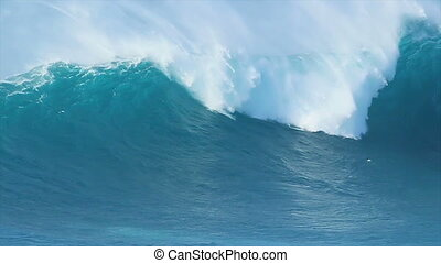 wave - giant blue ocean wave