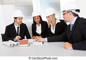 Group of architects at the meeting