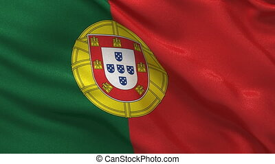 Portugal flag seamless loop