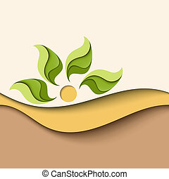 Background in natural colors Eco concept - Abstract...