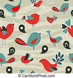 Fresh social media birds communication pattern
